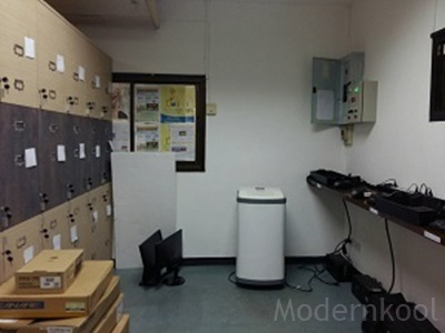 Dehumidifier: Electronics room
